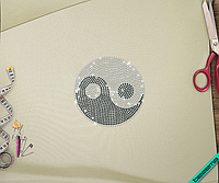 Дизайн на кошельки Инь Янь (Стекло,3мм-черн.,3мм-бел.)