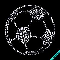Дизайн из страз на чулки Мяч (Стекло,4мм-бел.)
