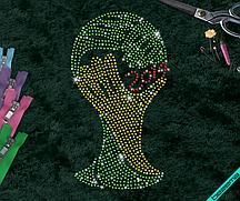 Рисунки из страз на свитеры World Cup  (Стекло,3мм-красн.,3мм-жел.,3мм-зел.)