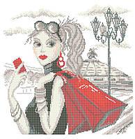 Схема для вышивки / вышивания бисером «Мандрівки: Шопінг» (40x45)