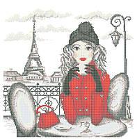 Схема для вышивки / вышивания бисером «Мандрівки: Париж» (40x45)