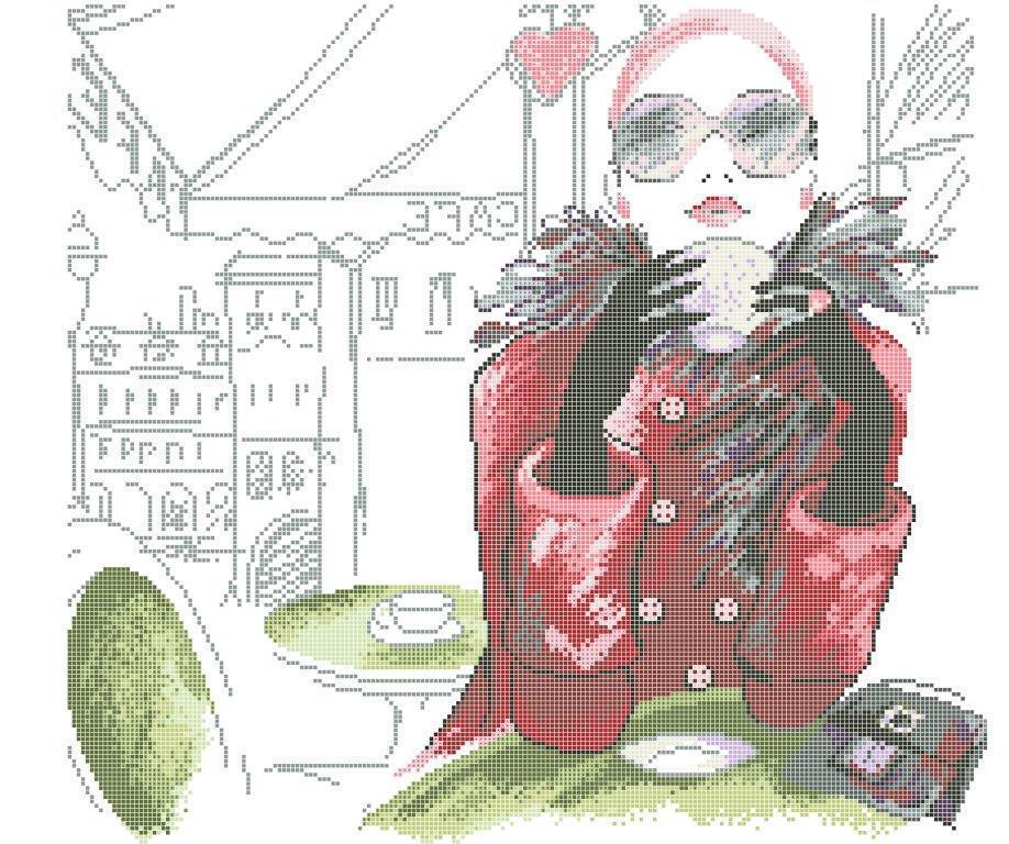 Схема для вышивки / вышивания бисером «Дівчина з кавою» (40x45)
