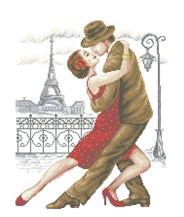 Схема для вишивки / вишивання бісером «Танго /Париж/» (40x45)