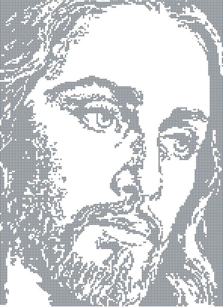 Схема для вышивки / вышивания бисером «Ісус /6036/» (40x45)