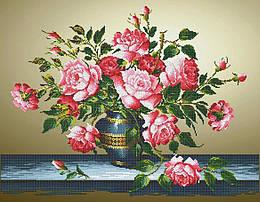 Схема для вышивки / вышивания бисером «Букет з трояндами» (A1) 60x80