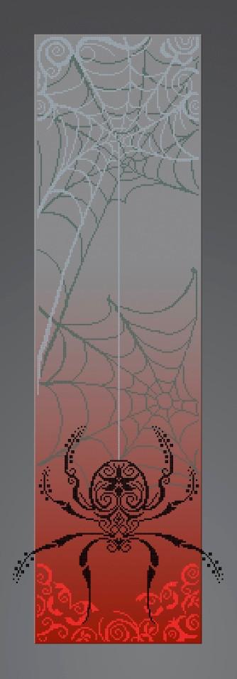 Схема для вышивки / вышивания бисером «Паук» (30x100)