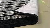Красивый черно белый ковер циновка в ванную или кухню, фото 2