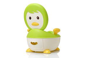 Детский горшок babyhood 113 пингвин BH-113G ЗЕЛЕНЫЙ без полиуретанового кольца