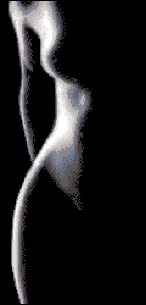 Схема для вышивки / вышивания бисером «Жіночий силует» (30x60)
