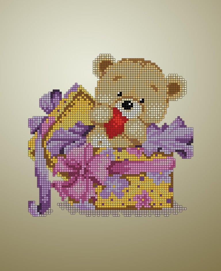 Схема для вышивки / вышивания бисером «Подаруночок» (A4) 20x25
