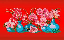Схема для вышивки / вышивания бисером «Ніжна орхідея» (30x50)