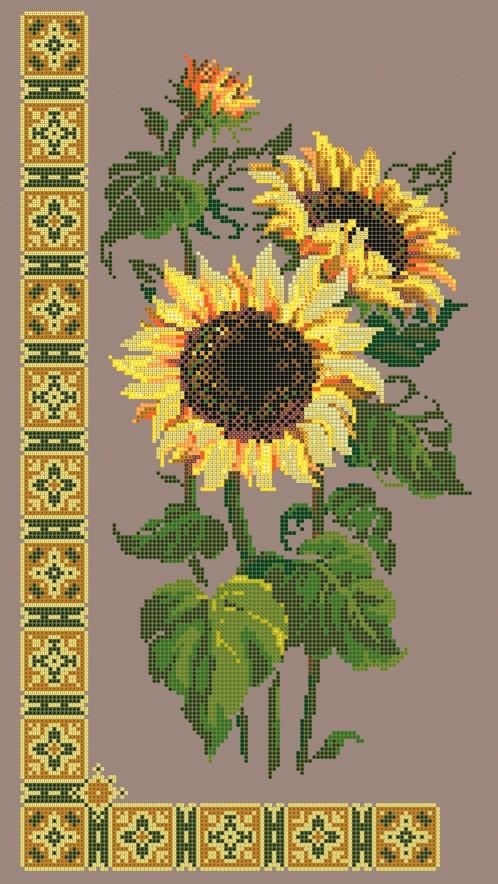Схема для вышивки / вышивания бисером «Соняшники» (30x50)