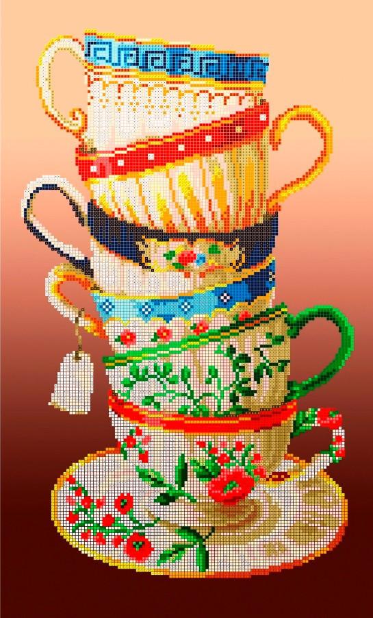 Схема для вышивки / вышивания бисером «Чаювання» (30x50)