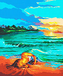 Схема для вышивки / вышивания бисером «У морських обіймах» (A1) 60x80