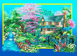 Схема для вышивки / вышивания бисером «Весняний вальс» (A1) 60x80