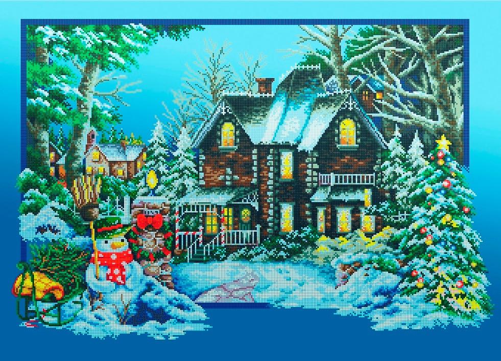 Схема для вышивки / вышивания бисером «Зимова соната» (A1) 60x80