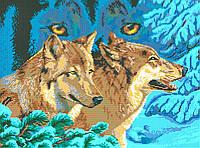 Схема для вышивки / вышивания бисером «Погляд вовка» (A2) 40x60