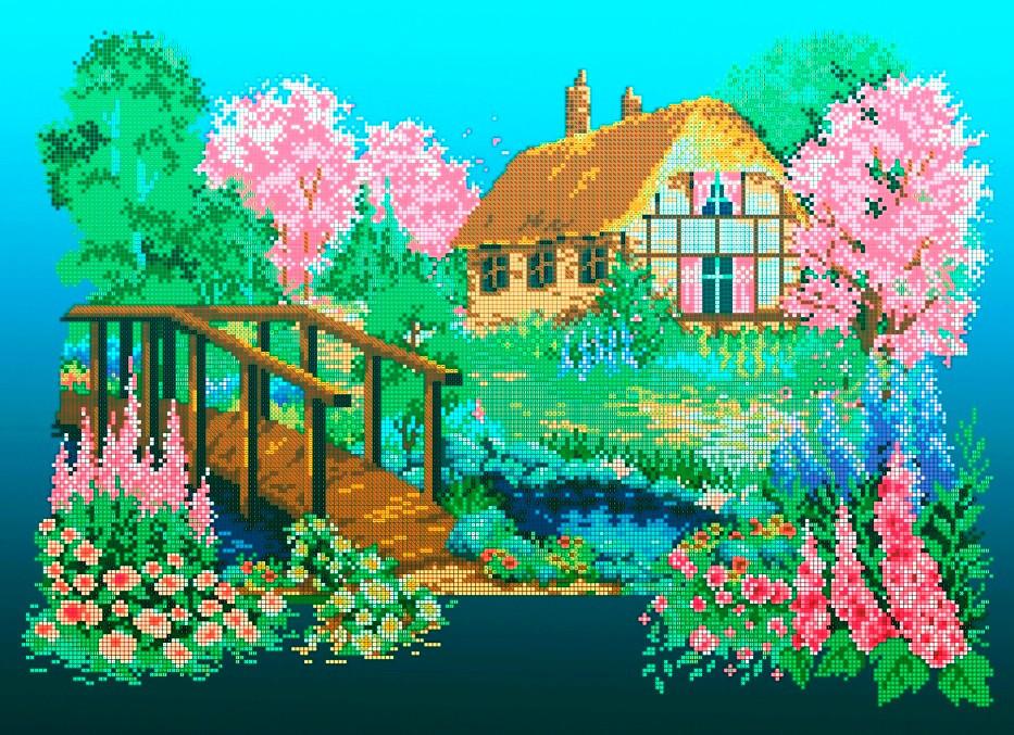 Схема для вышивки / вышивания бисером  «Весна» (A2) 40x60