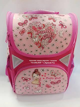 Рюкзак  ранец жесткий ортопедический школьный каркасный для девочки, фото 2