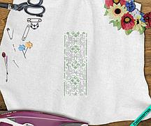 Рисунки на постельное белье Вышиванка (Стекло,2мм-зел.,2мм-бел.)