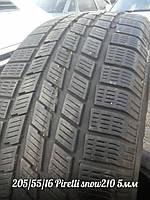 Шины зимние Б/У 205/55/16 Pirelli snow Sport 210 протектор 5мм