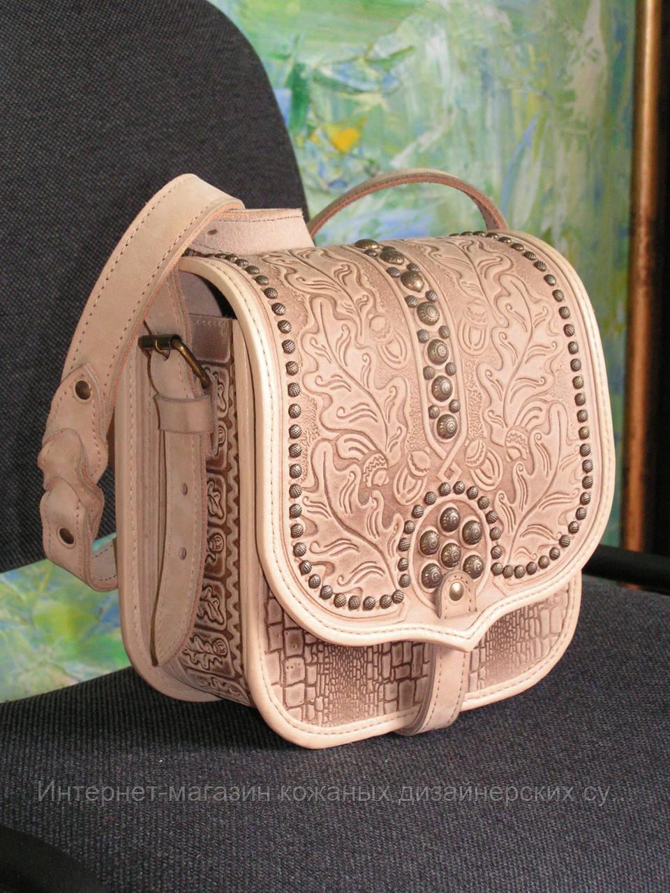 4364e3f84cd0 Кожаная сумка ручной работы