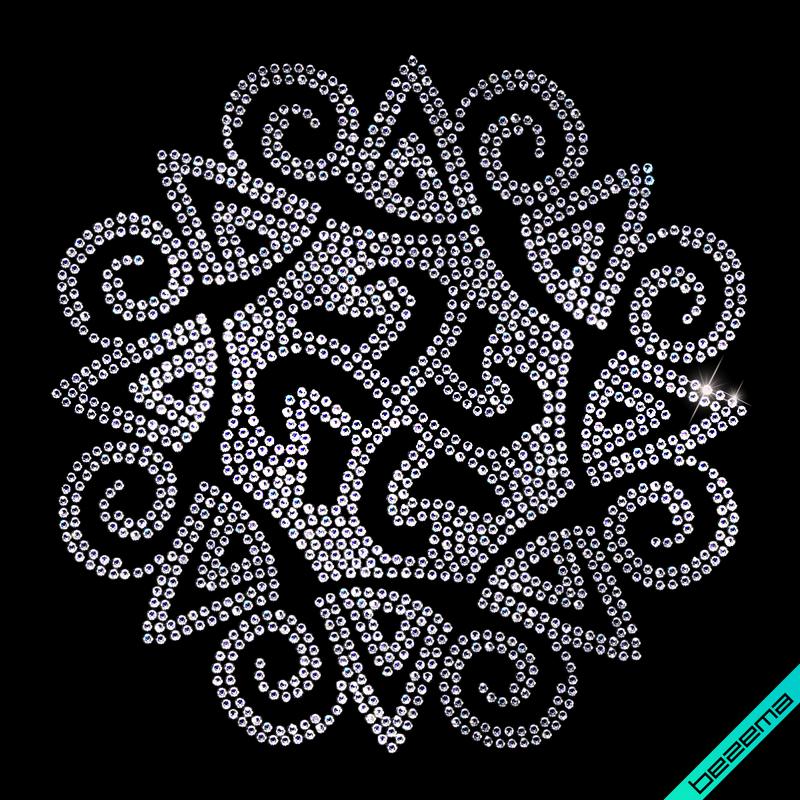 Дизайн на тапочки Узор (Стекло,2мм-бел.)