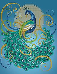 Схема для вышивки / вышивания бисером «Павлін» (A3) 30x40