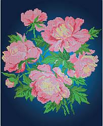 Схема для вышивки / вышивания бисером «Півонія» (A3) 30x40