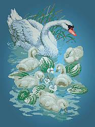 Схема для вышивки / вышивания бисером «Лебеди» (A3) 30x40
