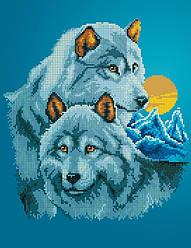 Схема для вышивки / вышивания бисером «Пара вовків» (A3) 30x40