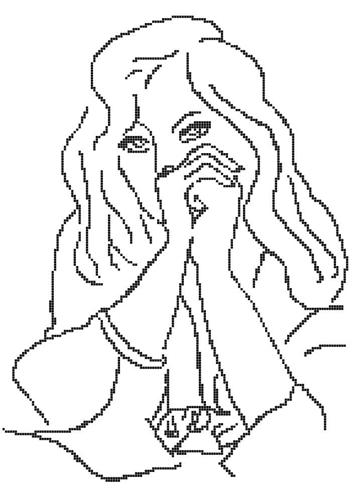 Схема для вышивки / вышивания бисером «Задумчивость» (A3) 30x40