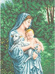 Схема для вышивки / вышивания бисером «Любовь матери» (A3) 30x40