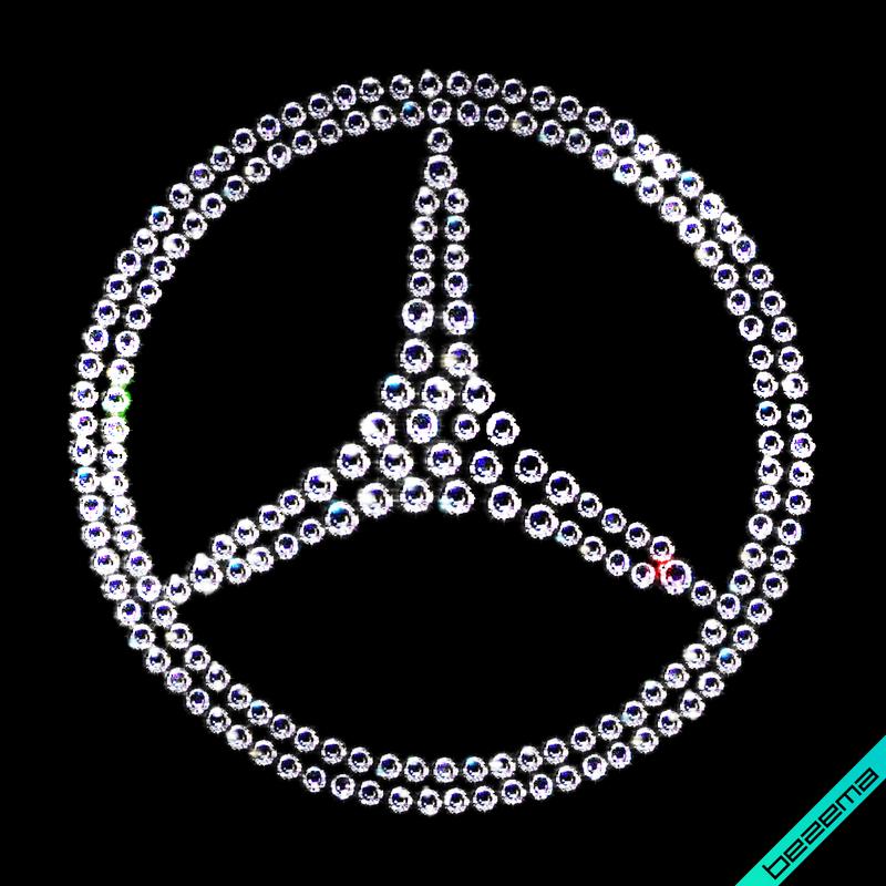 Дизайн на верхнюю одежду Mercedes (Стекло,2мм-бел.,3мм-бел.)