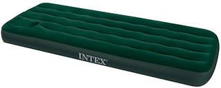 Велюр матрас со встроенным ножным насосом INTEX 191 х 76 х 22 см