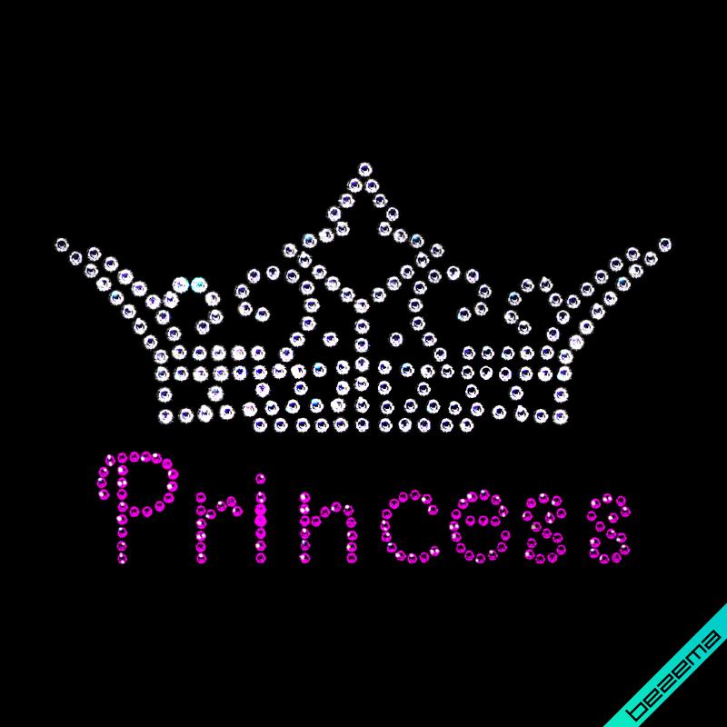 Аплпикации на рубашки Princess (Стекло,2мм-фуксия,3мм-бел.)