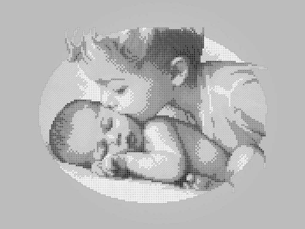 Схема для вышивки / вышивания бисером «Діти 5179» сірий фон (A3) 30x40