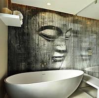 Стеклянное панно в ванную комнату
