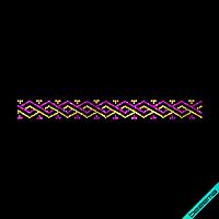 Термопринт на шапки Полоса Африка (Стекло,3мм-жел.,3мм-фиолет.)