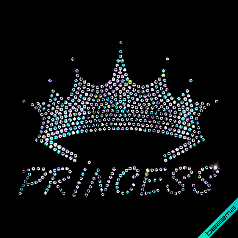 Термопереводки, латки на зонты Princess корона (Стекло,3мм-бенз.)