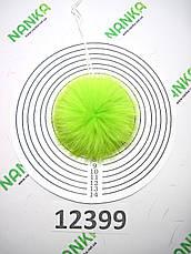 Меховой помпон Кролик, Неон Салат, 8 см, 12399, фото 2