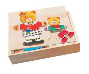 Игрушка Шкаф для одежды медведицы и медвежонка Bino (88023)