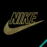 Рисунки из страз на банданы Nike  (Стекло,3мм-жел.)