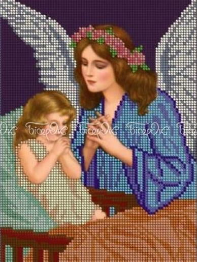 Схема для вышивки / вышивания бисером «Молитва перед сном» (A4) 20x25