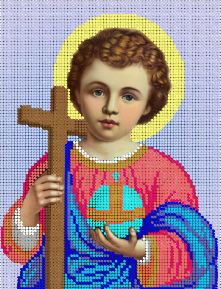 Схема для вышивки / вышивания бисером «Ісус немовля» (A4) 20x25