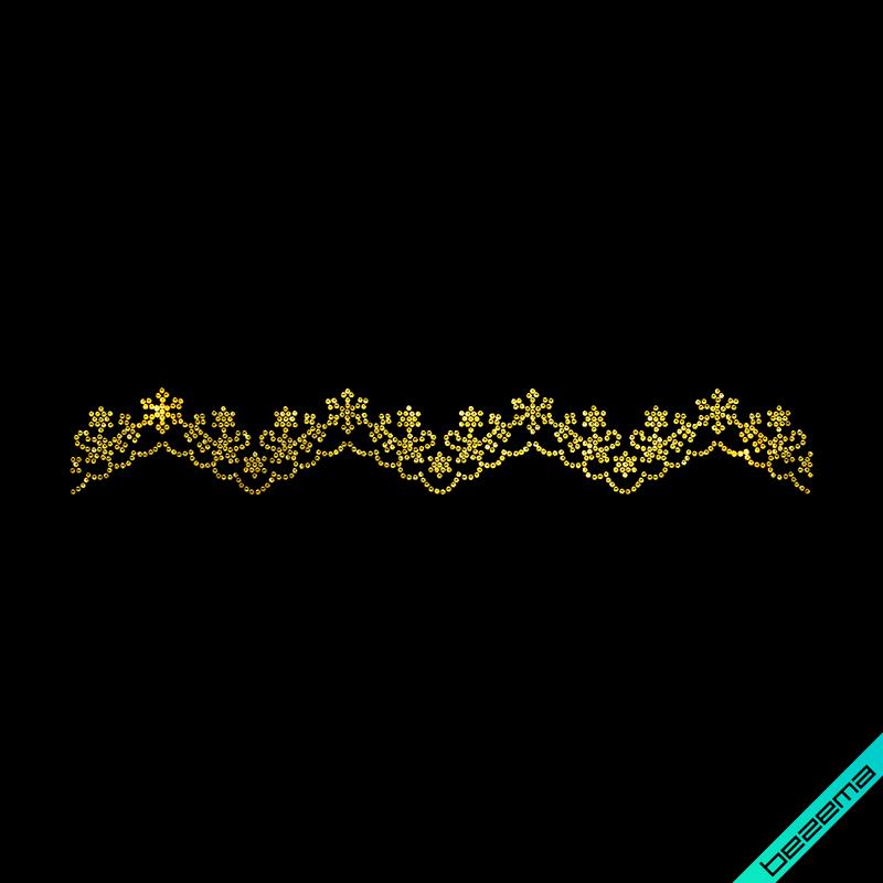 Термотрансфер на обувь Россыпь шарф (Стекло,2мм-зол.)