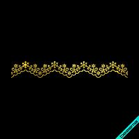 Термотрансфер на обувь Россыпь шарф (Стекло,2мм-зол.), фото 1