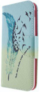 Чехол Milkin fpr Samsung J330/J3 2017 - Superslim book cover feathers