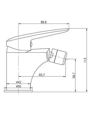PRAHA new смеситель для биде, хром, 35 мм, фото 2