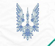 Термопринты на шарфы Птица-трезуб (Стекло,2мм-сапф.,4мм-син.)
